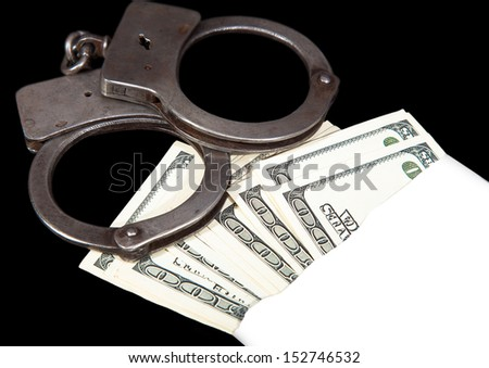 bribe money, crime, abstract close-up - stock photo