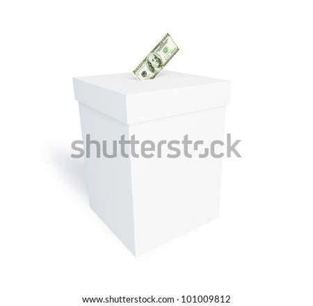 bribing of voters on a white background - stock photo