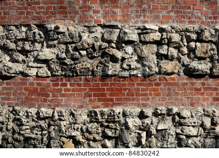 Brick and stone abstract background