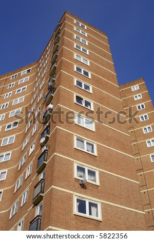 Brick apartment tower