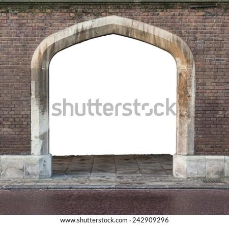 Brick arch  - stock photo