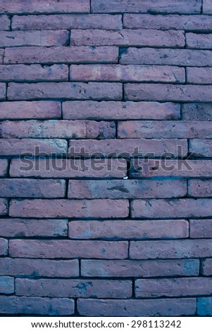 Brick background in thistle color