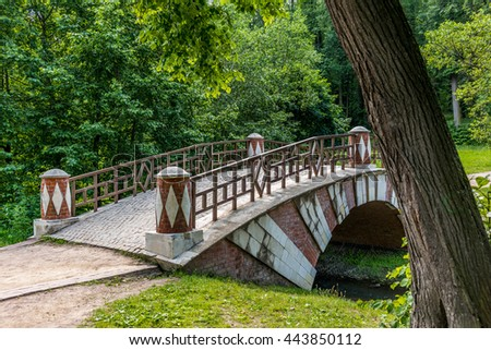 Brick bridge in the Tsaritsyno park in Moscow - 2
