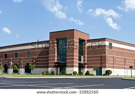 Brick Business Building - stock photo