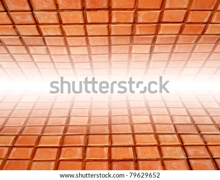 Brick 3d Dimension for text and background - stock photo