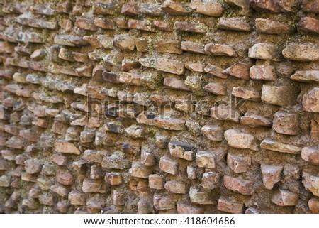 Brick decorative roman time wall background - stock photo