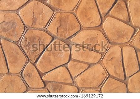 Brick floor background - stock photo