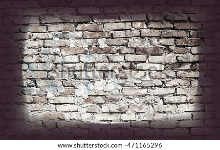 Brick gray wall background and texture