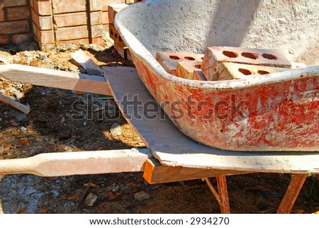 Brick Mason's Wheelbarrow