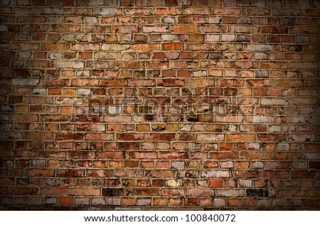 Brick old wall texture or background - stock photo