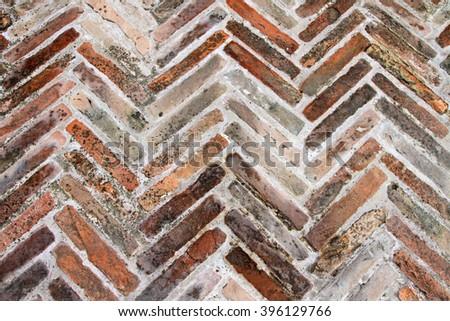 Brick path in Tuscany, Italy - stock photo
