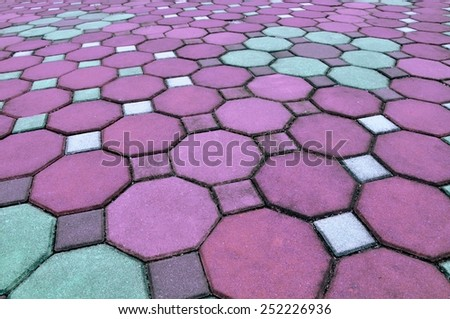 Brick pathway. - stock photo