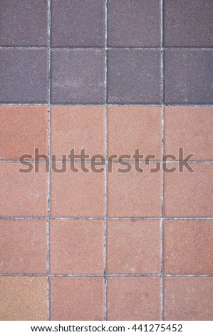Brick road. Picture can be used as a background   - stock photo