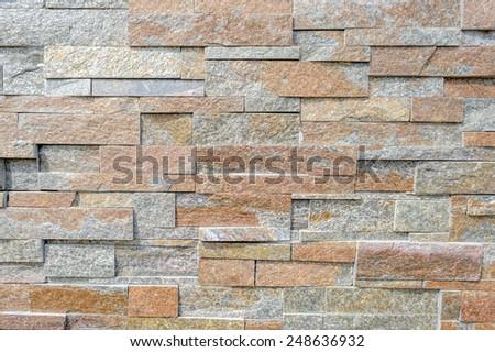 brick rocks wall texture backgrounds - stock photo
