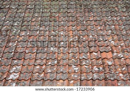 brick roof - stock photo