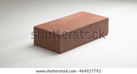 Brick smooth concrete in different colors. on a white background.