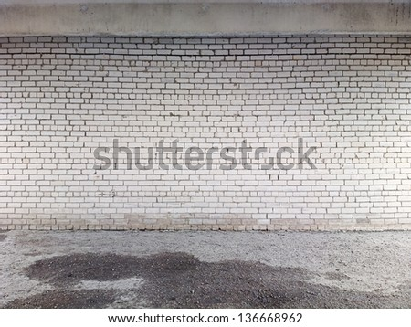 Brick wall background, texture for graffiti