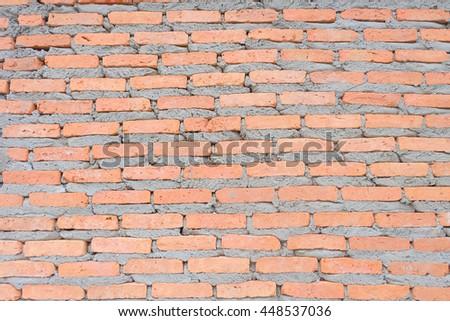 Brick Wall, Brick Texture, Brick Background, Vintage Brick Wall - stock photo