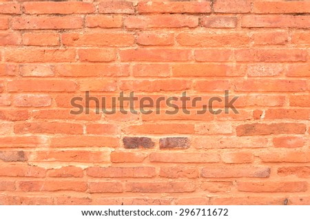 brick wall color background red texture old pattern construction dirty block cement solid brown - stock photo