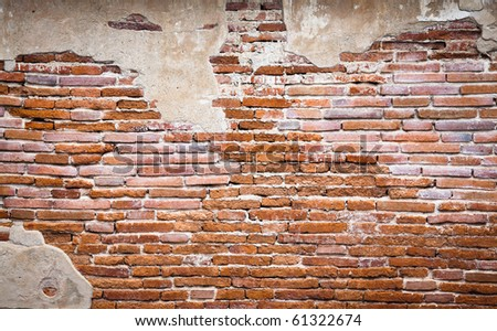 brick wall fragment - stock photo