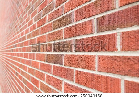 Brick Wall From Side View