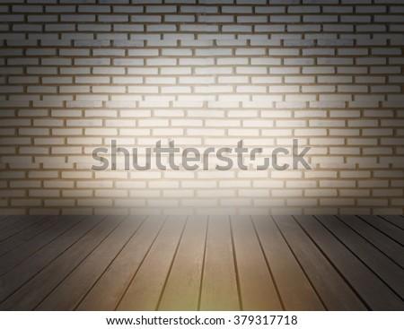 light wood floor background. Brick Wall Light With Wood Floor Background Wall Light Wood Floor Background Stock Photo 379317718
