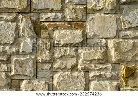 Brick wall, natural stone. Background and Texture