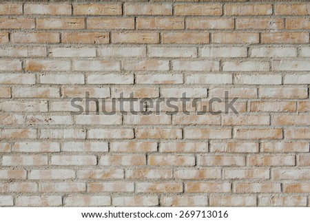 Brick wall on a home in Denmark - stock photo