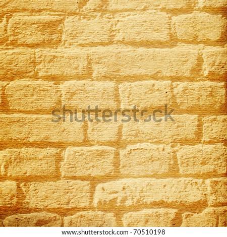Brick Wall Painted On Cardboard Stock Illustration 70510198 ...