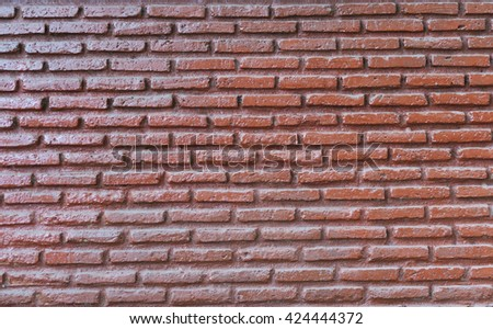 brick wall painted with oil color coated