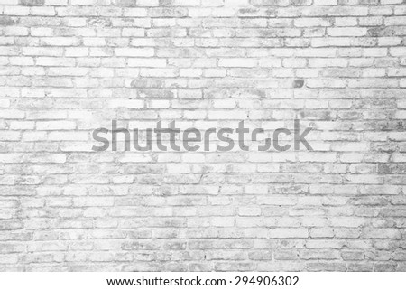 Brick wall pale by infrared bleached photography technique - stock photo