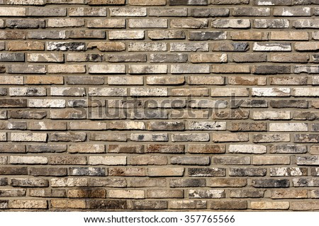 Brick wall pattern : Korea style