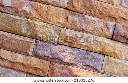 brick wall stone background Texture - stock photo
