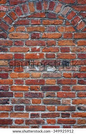 Brick wall texture. Architectural pattern. - stock photo