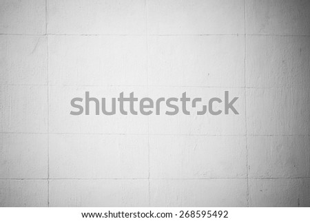 Brick wall texture background Soft tone White color - stock photo