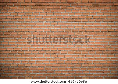 brick wall texture background style vintage brown brick wall - stock photo