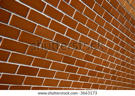 Brick wall texture in a angle view