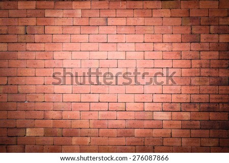 brick wall texture with filter effect retro vintage style - stock photo