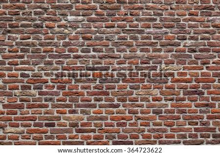 Brick wall, wallpaper pattern, background texture - stock photo