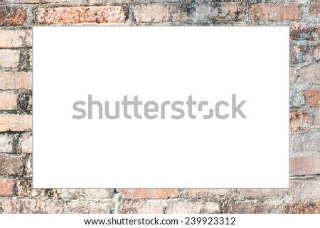 Brick wall Wide  frame photo, isolated  - stock photo