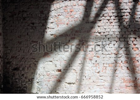 Brick wall with shadow