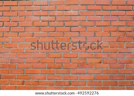 Brick walls of the coffee shop