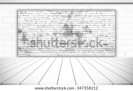 Brick walls, wooden style abstract background.