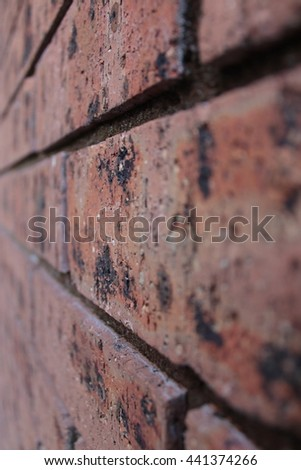 Bricks, Horizontal, blur left and right