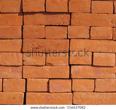 Bricks pile background - stock photo