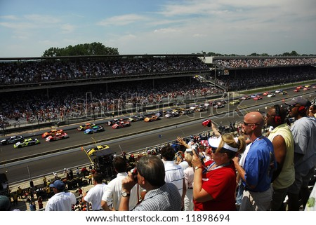 Brickyard 400 a NASCAR race at the Indianapolis Motor Speedway - stock photo