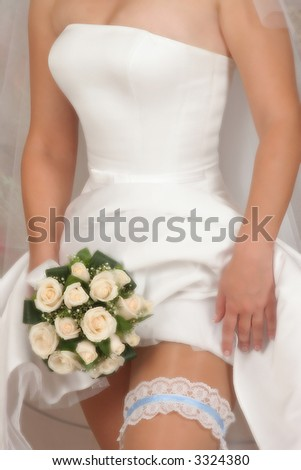 bridal bouquet(focus on the flowers,special photo) - stock photo