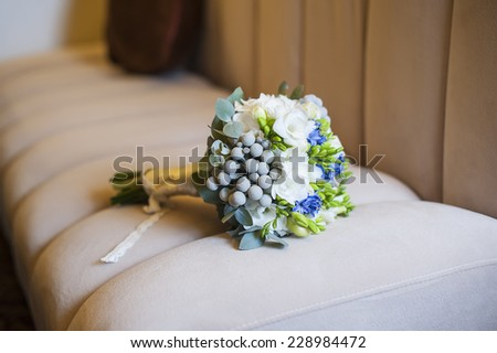 bridal bouquet of flowers. - stock photo