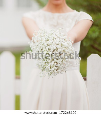 bridal bouquet of Gypsophila