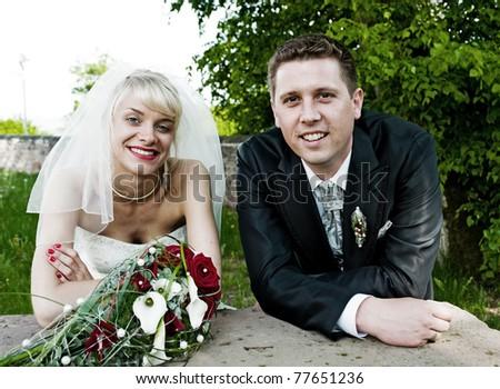 bridal couple - stock photo